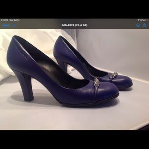 Gucci Leather Pumps Purple 8.5